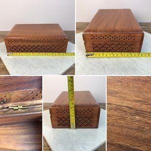 Storage & Organization - Carved Wooden Box